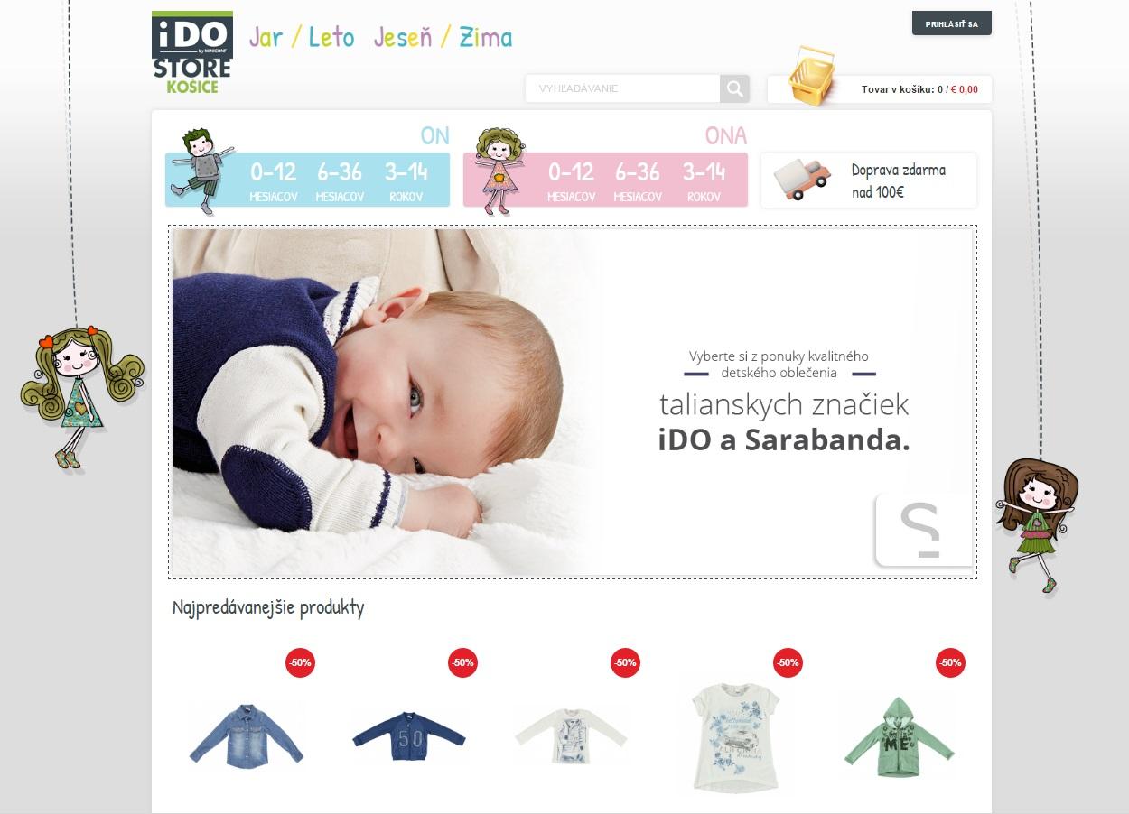 E-shop s detským oblečením značiek iDO a Sarabanda  35973aa870