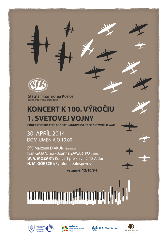 Koncert k 100. výročiu 1. svetovej vojny