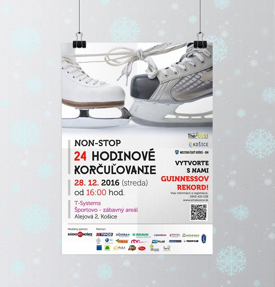 Vizuál na 24 hodinové korčuľovanie pre Košice - Európske mesto športu