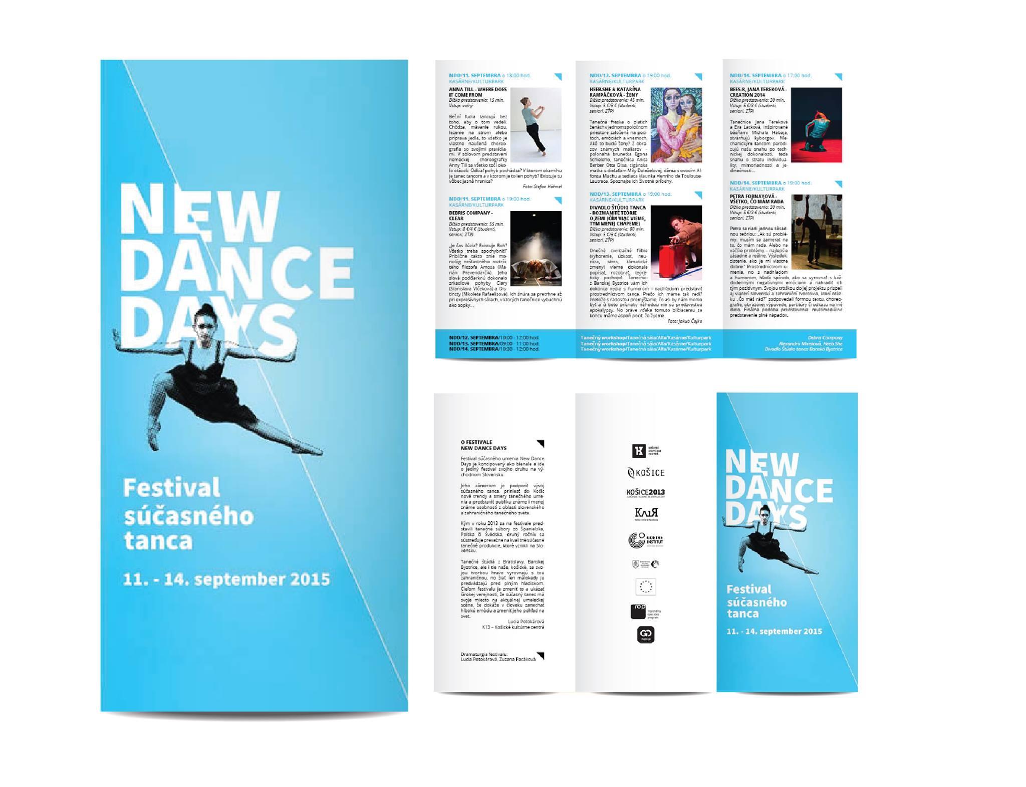 Biltén na festival súčasného tanca pre K13