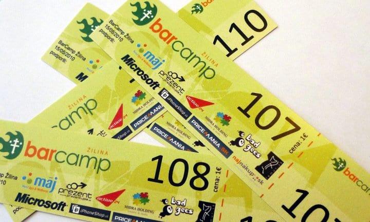 Tombolové lístky Barcamp Žilina