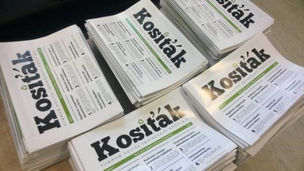 Grafika - firemné noviny spoločnosti KOSIT - Kosiťák