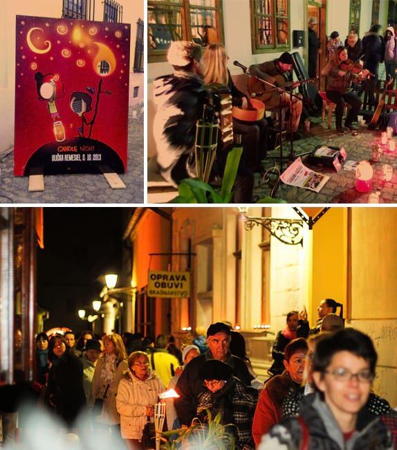 Event - Organizovanie podujatia Candle Night, Hrnčiarska ulica Košice, Ulička remesiel