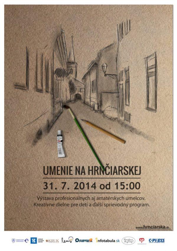 Organizácia podujatia Umenie na Hrnčiarskej ulici Košice