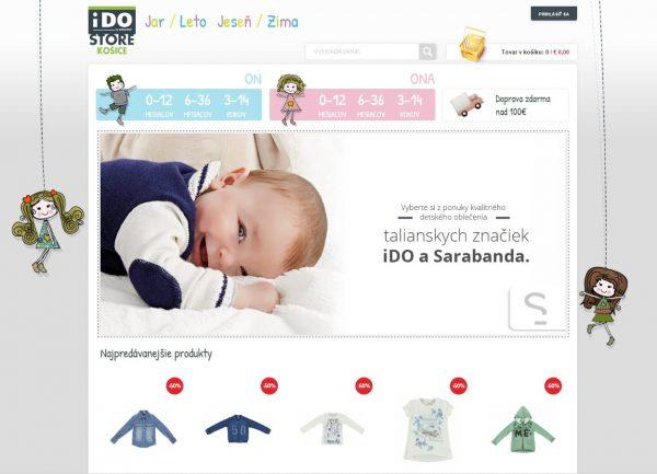 iDO Košice webová stránka e-shop