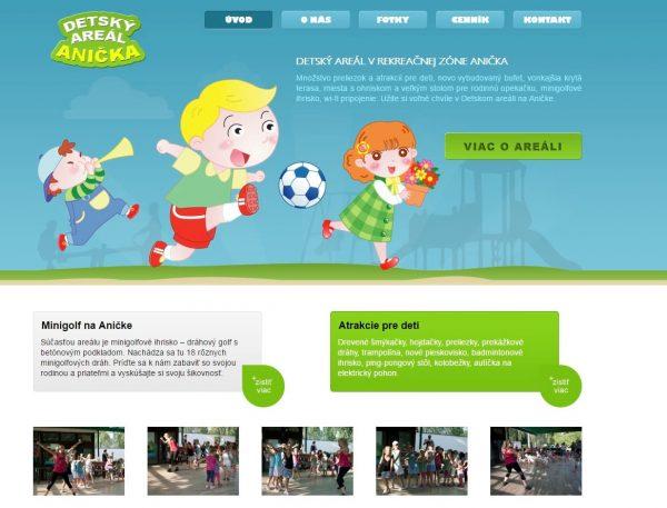 webová stránka detský areál Anička