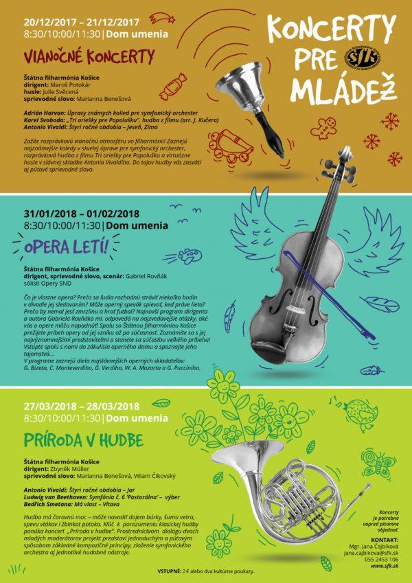 koncerty pre mládež