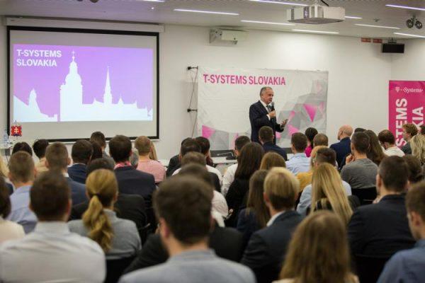 Prezident Andrej Kiska v T-Systems Slovakia